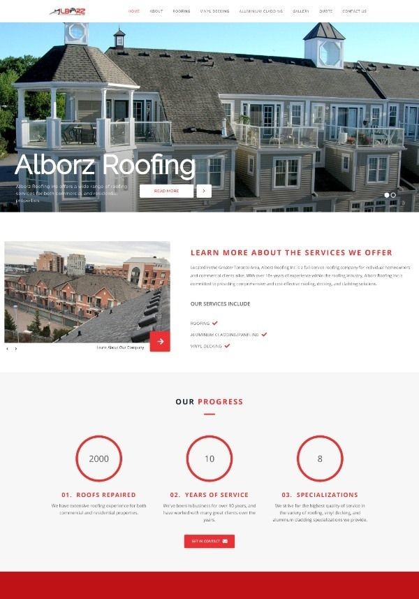 After/Improved Image of Alborz Roofing Website